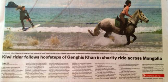 A recent article in the paper about the Mongol Derby